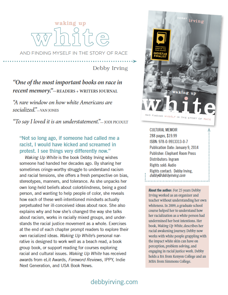 Image of the sales sheet for Waking up White