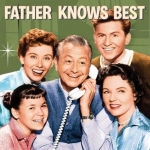 """5 smiling cast members from TV show """"Father Knows Best"""""""